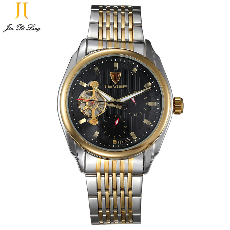 New brand luxury Mechanical watch men Black Dial Skeleton Sport Wrist Watch high quality waterproof relogios masculino купить