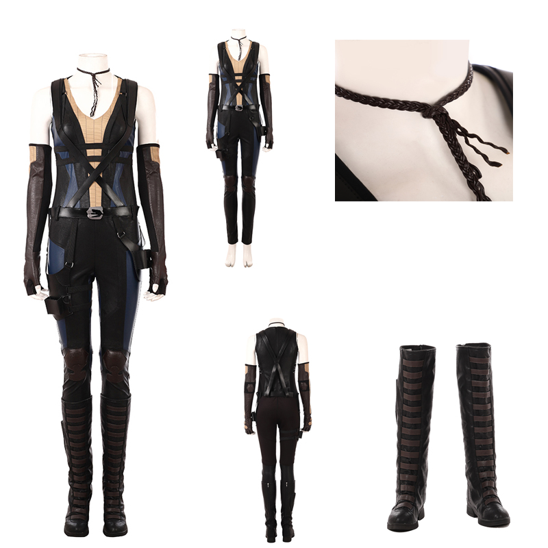 2018 New Movie Deadpool 2 Domino Cosplay Costume For