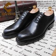Sipriks lujo Mens Goodyear Welted marrón oscuro tallado zapatos Vintage jefe de encaje Formal zapatos de trabajo de negocios de estilo de oficina