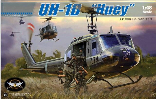 "1/48 Scale Kitty Hawk 80154  USMC UH-1D ""Huey""  Plastic Model Building Kit"