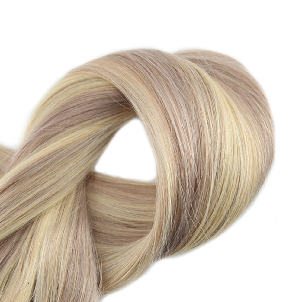 Full Shine 100 Flip Human Hair Extensions Halo Style No Clip No