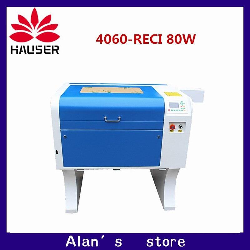 Frete grátis A HCZ 80 RECI laser de co2 4060 W gravação a laser cortador de máquina de marcação laser mini gravador cnc router a laser cabeça diy