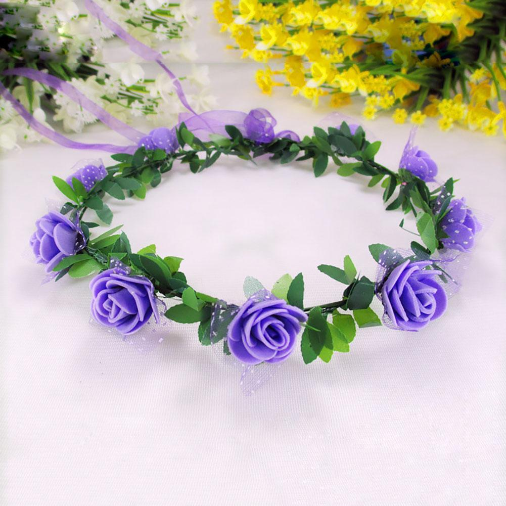 Women Flower Headband For Wedding Floral Headband Hair Band Wedding