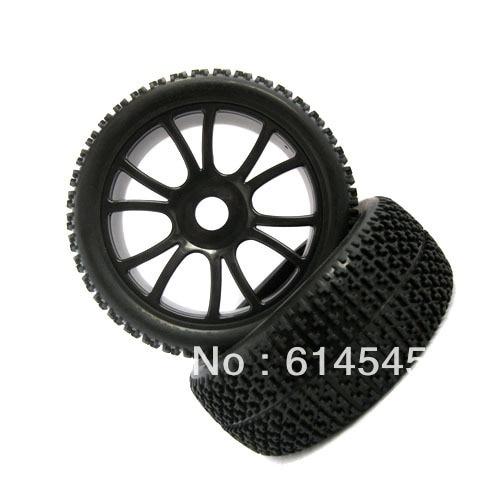 84B-804  4PCS RC 1/8 Off-Road Car Buggy 17mm Hub Wheel Rim & Tires,Tyre For HSP 84B-804 plastic front rear wheel rim tire for rc car 1 10 buggy off road car hsp himoto hpi traxxas redcat 06008 06101 06024 06102