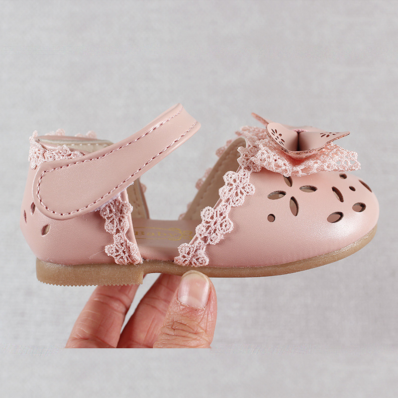 Newest Summer Kids Shoes 2020 Fashion Leathers Sweet Children Sandals For Girls Toddler Baby Breathable Hoolow Out Bow Shoes 2