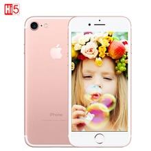 Déverrouillé Apple iPhone 7 Marque mobile Téléphone 2 GB RAM 32/128 GB/256 GB ROM IOS 10 LTE 12.0MP Caméra Quad-Core D'empreintes Digitales iphone7