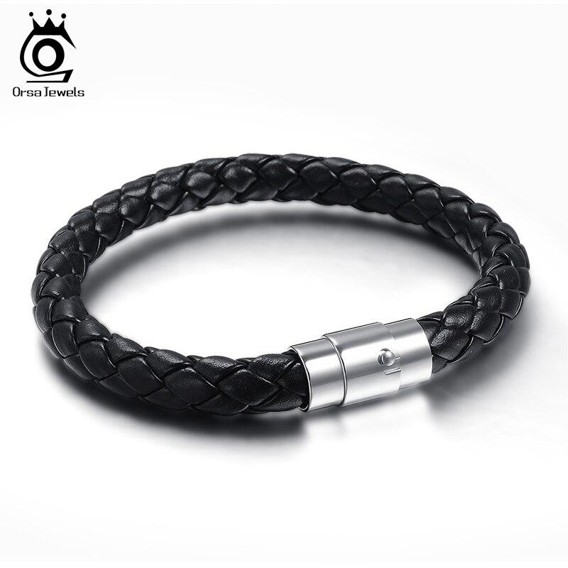 Кожаные браслеты мужские из стали