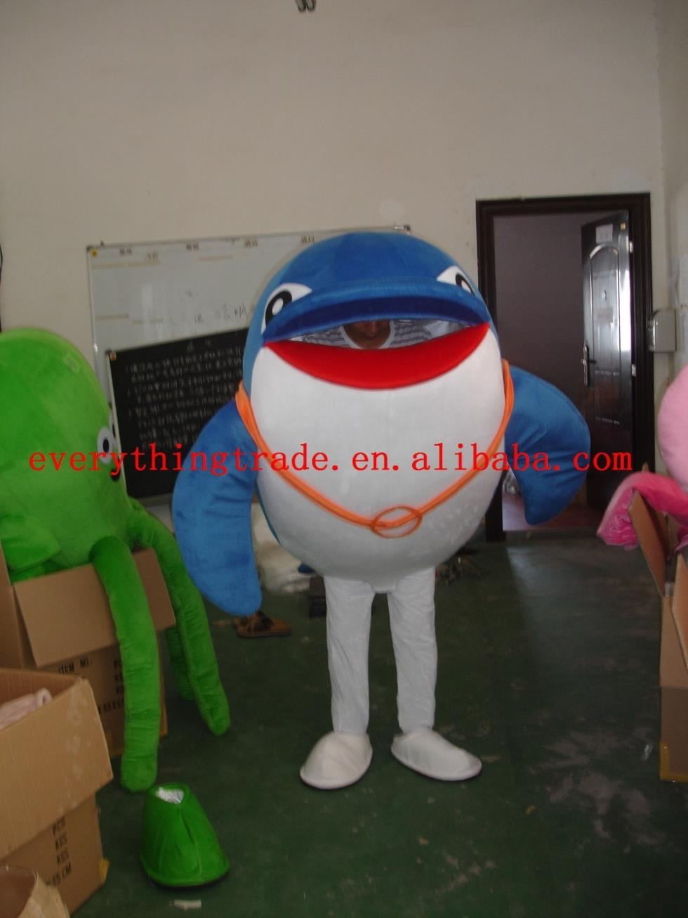Hot selling Foam Adult cartoon character Dolphin Mascot Costume fancy dress party costumes adult size