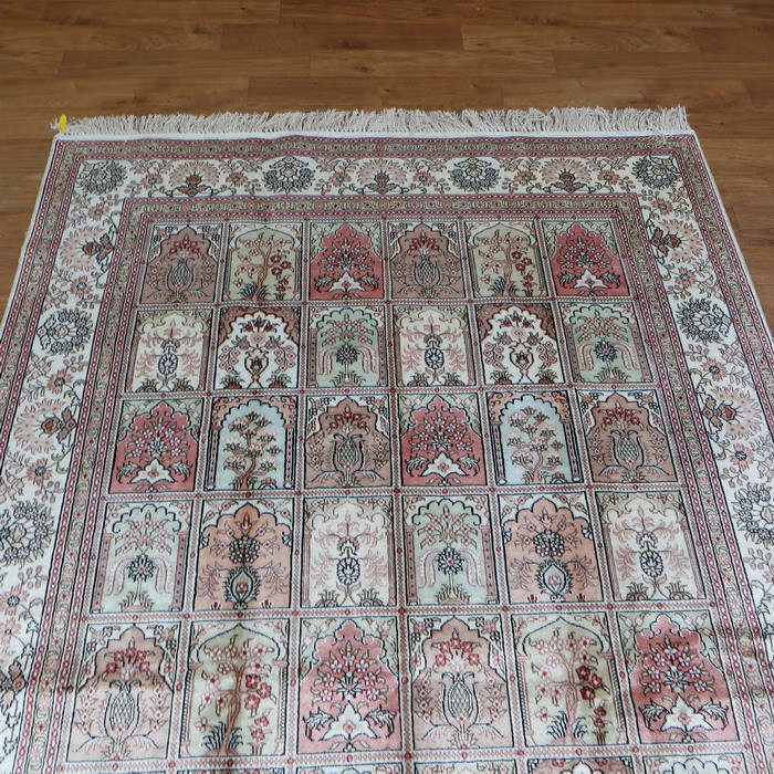 5 X8 Handmade Hand Knotted 370 Kpsi Tabriz Rug Persian Silk Carpets Pink Bedroom Rugs Indian 458b5x8 In Carpet From Home Garden On Aliexpress