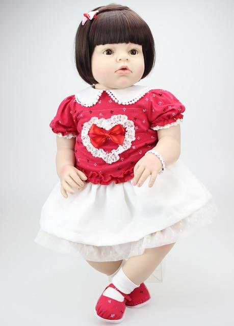 Ukuran besar 70 CM gadis cantik silikon Reborn boneka bayi untuk dijual  boneka 6ac3316778