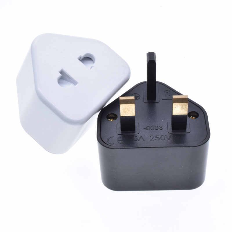 Ue/usa do wielkiej brytanii wtyczka konwersji z drzwi bezpieczeństwa gospodarstwa domowego golarka wtyczka zasilania adapter podróży wielu elektryczne wtyczka z połączone 5A