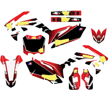 For Honda CRF250 CRF 250 2010 2011 2012 2013 CRF450 CRF 450 2009 2010 2011 2012 Full Stickers DIY Customizable number decal