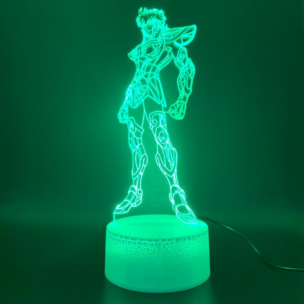Led Night Light Anime Saint Seiya Figure Touch Sensor 3d Lamp Home Decor Holiday Gift For Kids Bedroom Novelty Light Children