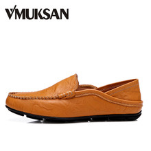 VMUKSAN Gran venta zapatos hombre Talla 38-46 Cuero zapatillas hombre casual cómodo Diseñador mocasines hombre