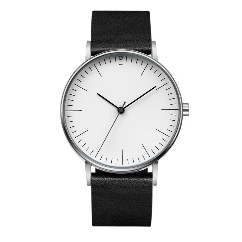 Fashion Super Simple Ultra Thin Men Women Watches Casual Quartz Watch Leather Wristwatches Clock Montre Femme Women's Watches