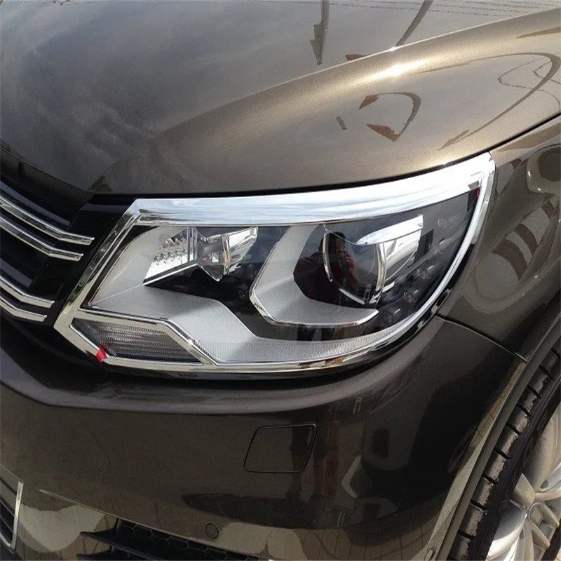 Accessories 2pcs Headlights Decoration Frame with High Quality ABS Chrome Fit For Volkswagen 2010 2011 2012 2013 Tiguan VW hot sale abs chromed front behind fog lamp cover 2pcs set car accessories for volkswagen vw tiguan 2010 2011 2012 2013