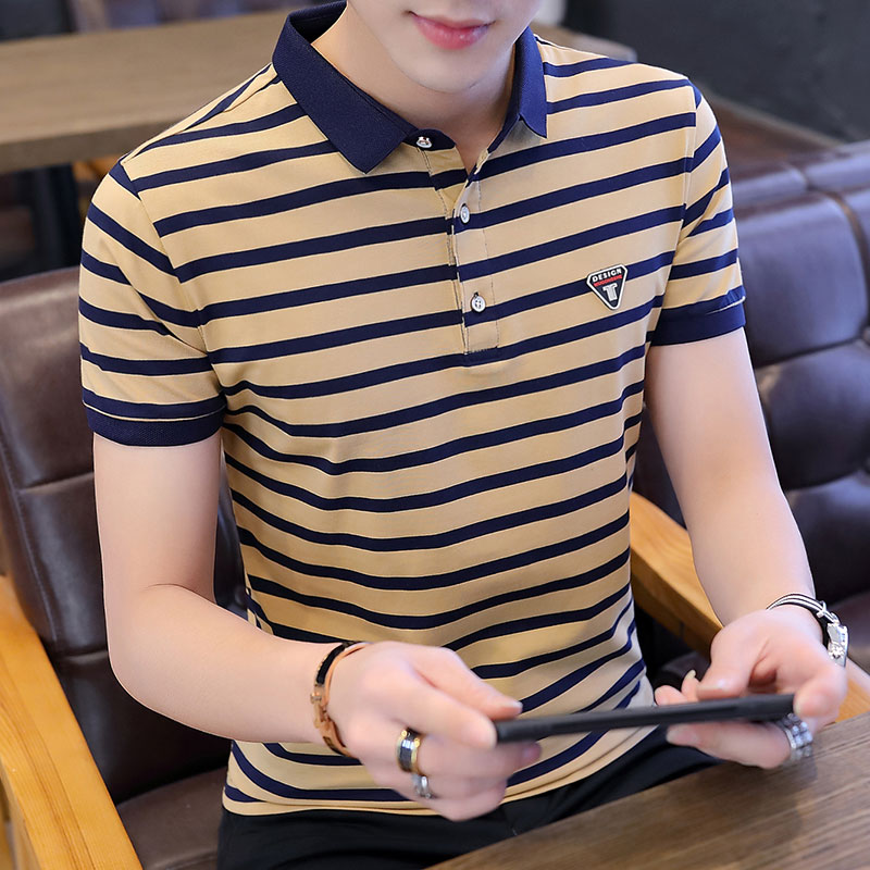 Cheap wholesale 2017 New men's Lapel half-sleeve shirt Summer fashion men's   POLO   shirt