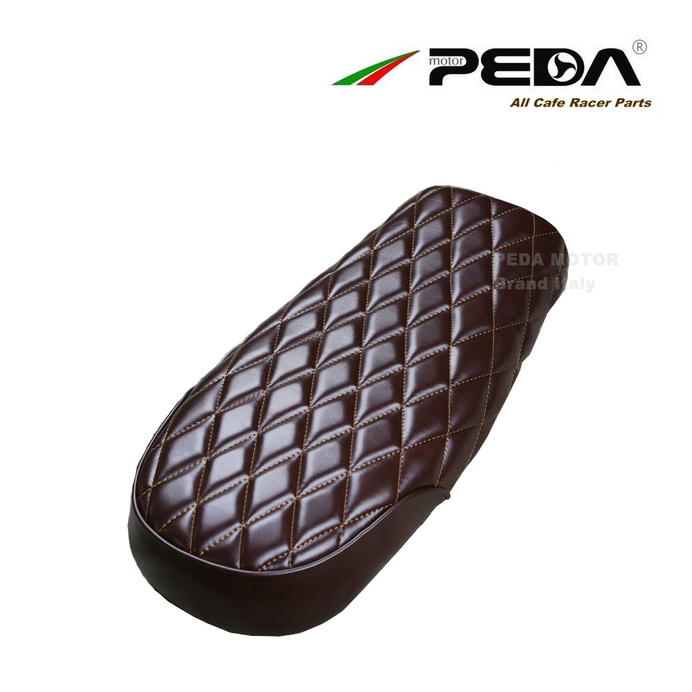 New Style Flat-Hump Cafe Racer Seat  Retro Locomotive Refit Motorcycle Seat Leather Waterproof Hump Seat Cover with High quality modified motorcycle brat flat seat retro cafe racer seat locomotive refit motorcycle saddle with seat hoops lights