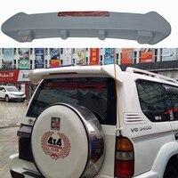 Auto Styling ABS Kunststoff Unlackiert Primer Farbe Hinten Stamm Flügel Dach Spoiler Mit Led Licht Für Toyota Prado FJ90 3400 spoiler-in Spoiler & Flügel aus Kraftfahrzeuge und Motorräder bei