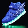 Usb diodo emissor de luz dos esportes das crianças shoes board masculino shoes crianças coreanas luz shoes