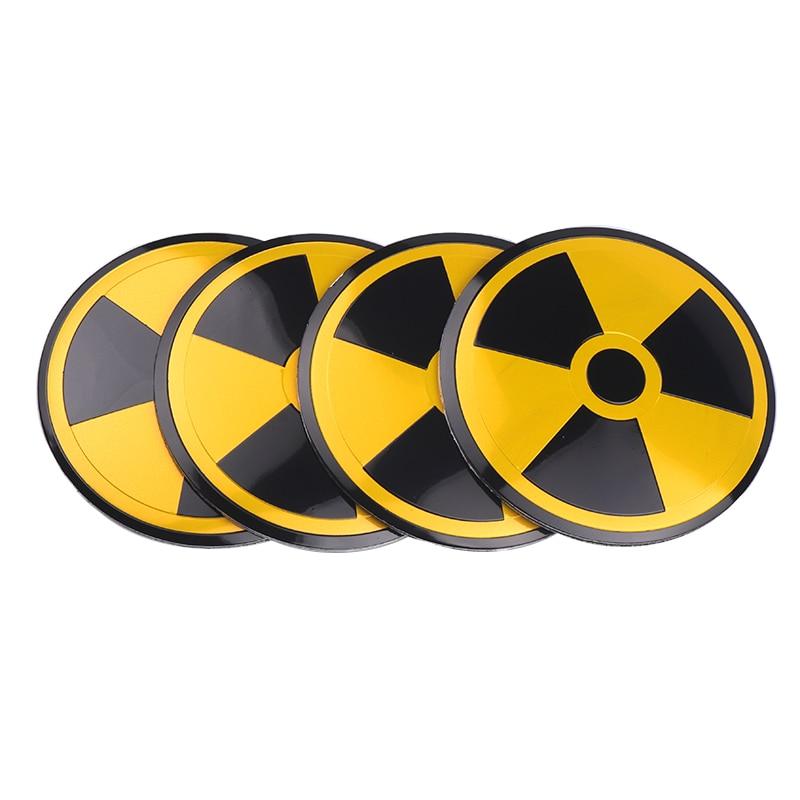 4pcs Aluminum 56mm Nuclear Radiation Auto Car Wheel Center Hub Caps