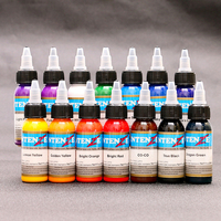 2019 NEW 14 color body art 30 ml professional tattoo 1oz tattoo paint set beauty makeup permanent cosmetics