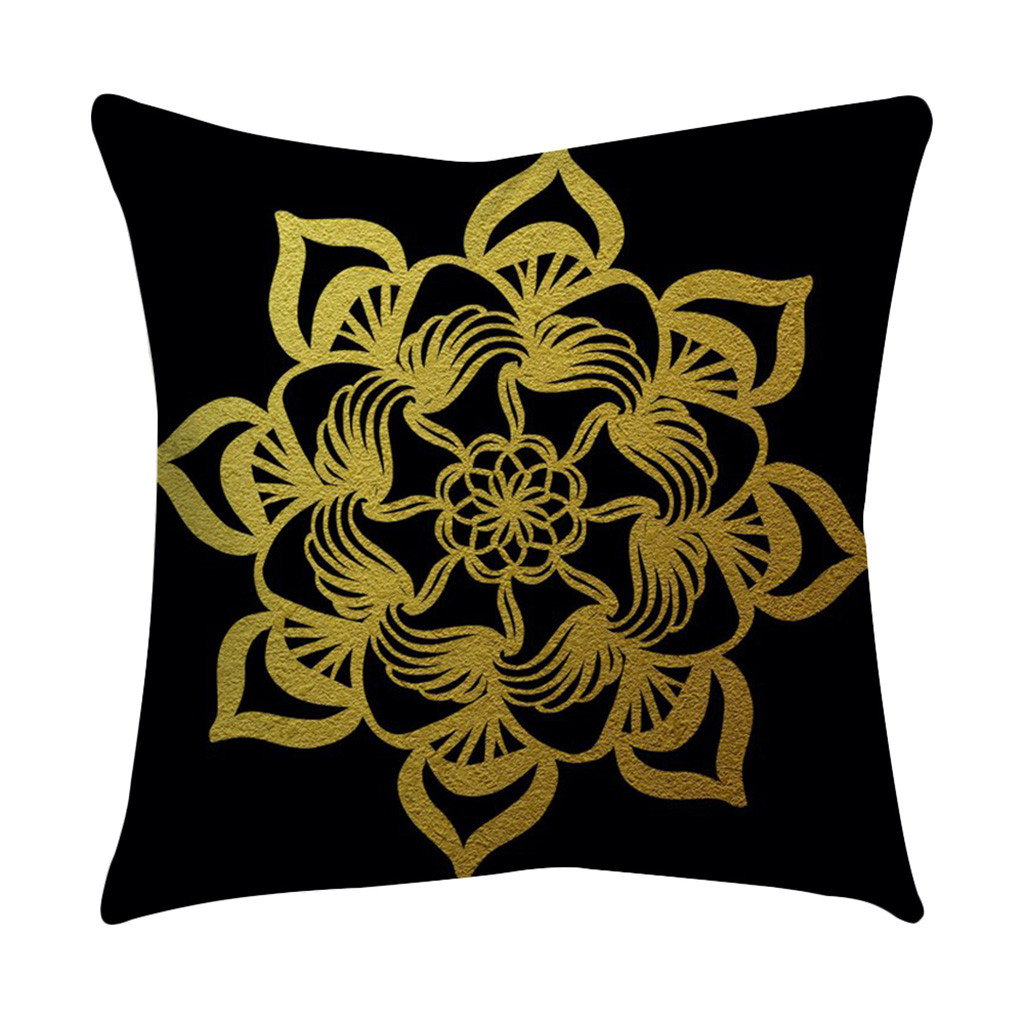 rose black gold cushion cover square pillowcase home. Black Bedroom Furniture Sets. Home Design Ideas