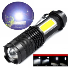 3800LM XML-Q5 COB LED Flashlight Portable Mini ZOOM Torchfla