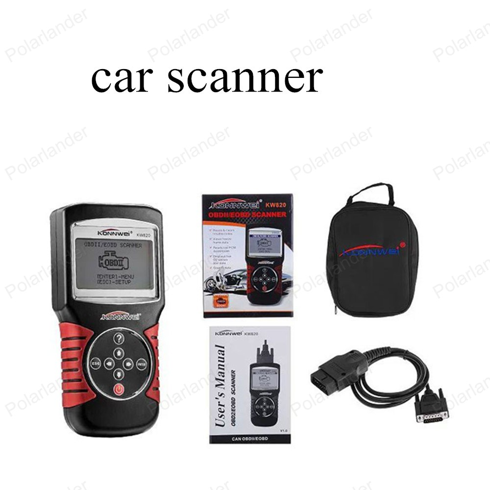 ФОТО hot sell Car Diagnostic Tool KW820 Code Scanner CAN OBD2 Engine Managment Works For US/Asian/European Vehicles