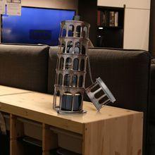 TOOARTS наклоняющаяся башня в форме металлической бутылки вина стойка для вина с практичным и красивым внешним видом изысканная ручная работа
