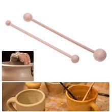2 шт Прочная Керамическая Глина Резьба, керамика инструмент для лепки набор ручной работы DIY Декор Fimo глина домашние ремесленные инструменты для гончарного дела