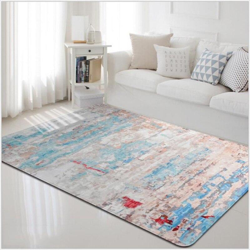 Tapis contemporain de plancher de salon de Style rétro de Boho, tapis extérieur extérieur antidérapant de coussin de Sofa de grands tapis