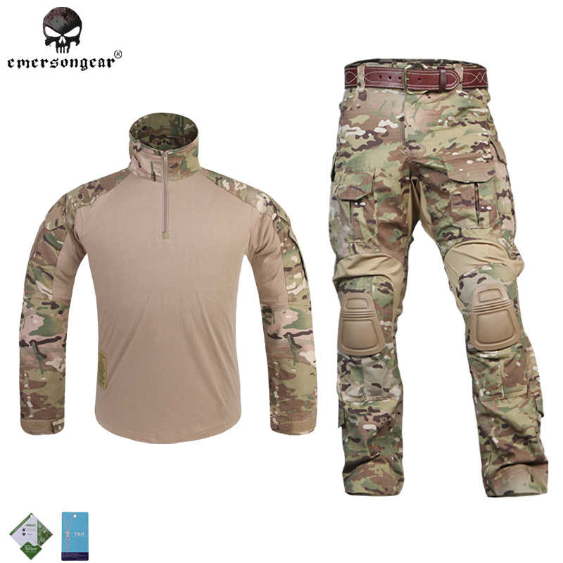 96063cb7951ac Hunting Camouflage clothes Emersongear G3 Multicam uniform shirt Pants  Combat Airsoft Tactical Emerson bdu Military
