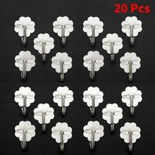 20PCs Square Plastic Self Adhesive Wall Hooks For Hanging 180 Degree Rotating Stick On Hooks For Bathroom Kitchen Hooks