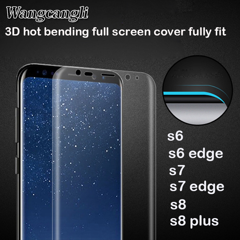 Hot bending full covered curved 3d screen for Samsung Galaxy s6 s7 s7 s8 edge plus screen protector pet Mobile phone soft film