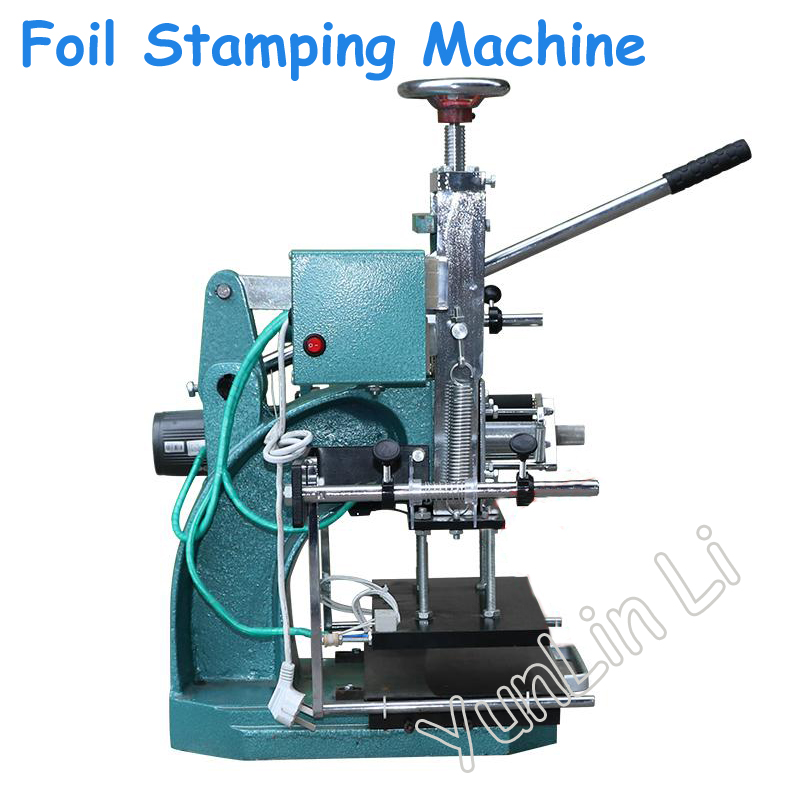 Manual Hot Foil Stamping Machine 300*180mm Logo Printing Machine 110V/220V Leather Pressing Machine цена