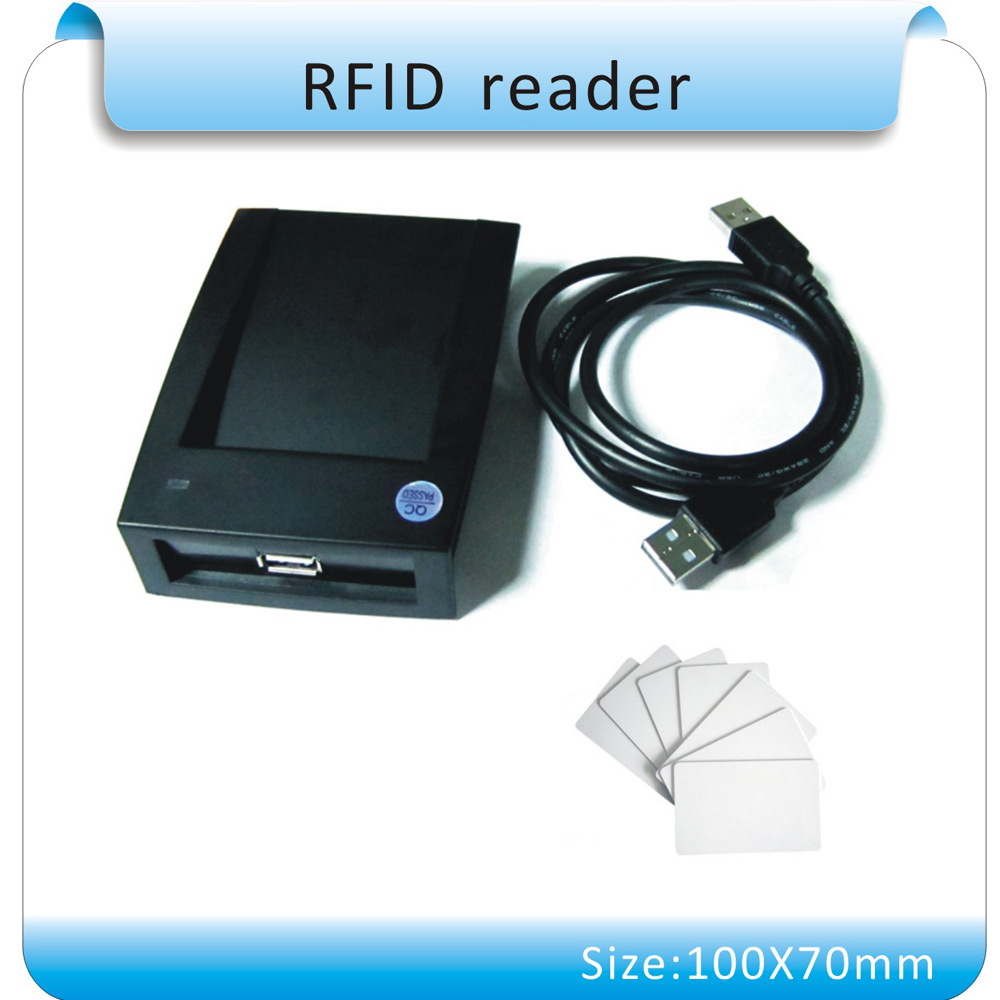 Contactless 14443A Card Encoder IC Card Reader for M ifare Writer with 10pcs Cards USB Interface 13.56MHZ RFID