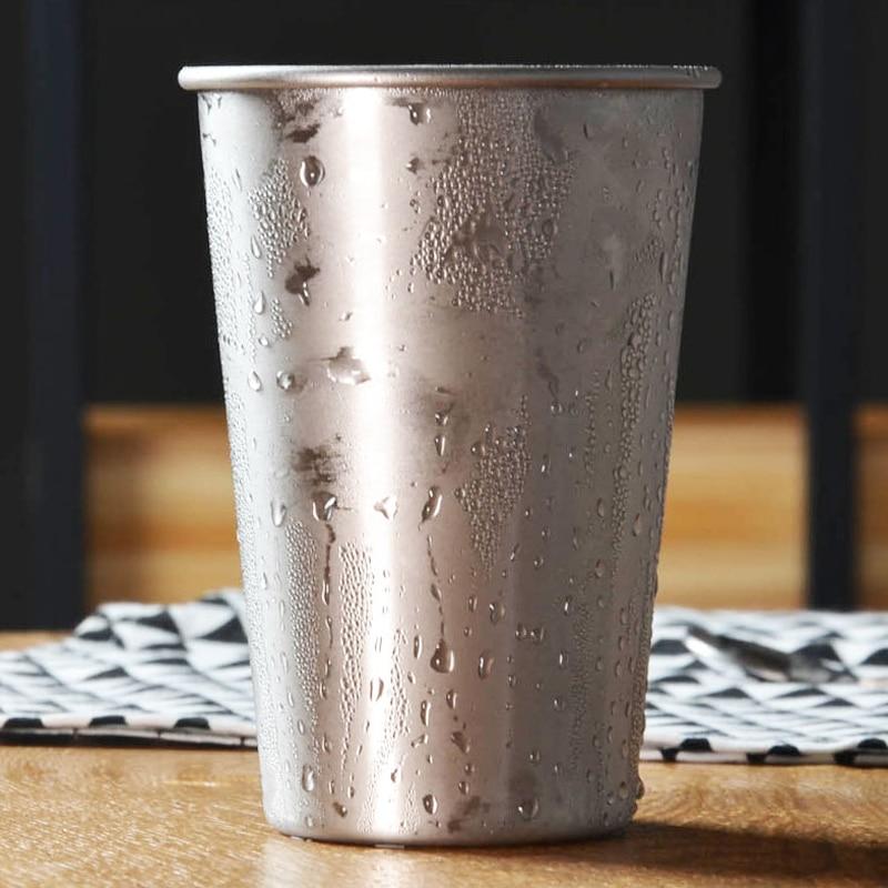 4 pcs/ensemble Grand Acier Inoxydable Tasses Thé Glacé Café Tasses Gobelet De Bière Pinte Tasses 16 oz Grand Bar Café En Plein Air camping Potable Tasses