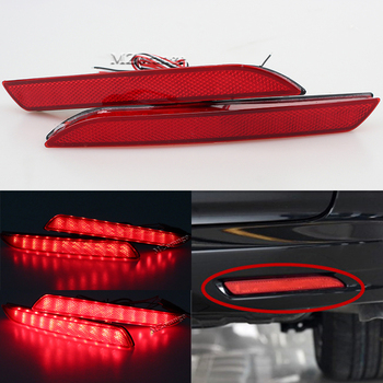 MIZIAUTO Red Rear Bumper Reflector Light For Honda JAZZ Fit 2010-2013 CRZ CRV Acura TSX Lamp LED Tail Stop Fog Brake Light