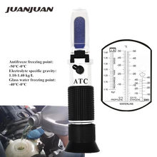 Hand Held Engine Fluid Glycol Point Refractometer With ATC Tester Tool Car Battery Antifreeze Freezing 20% off(China)