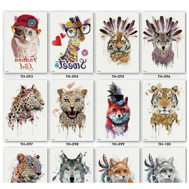 e3faf21ad 1Pc Waterproof Fake Hand Tattoos Adult Men Women Body Art NEW Leopard Tiger  Pattern Waterproof Temporary Tattoo Stickers