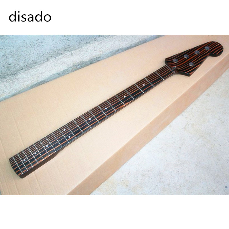 disado 20 Frets Zebrawood Electric Bass Guitar Neck 4 5 Strings Guitar accessories Parts musical instruments 4 pcs bass strings bass guitar parts accessories guitar strings stainless steel silver plated gauge bass guitar