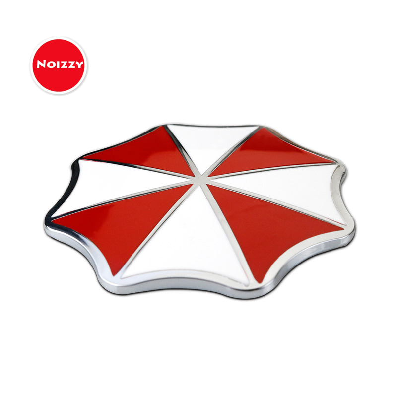 Noizzy Resident Evil Umbrella Logo Corporation Car Auto Motorcycle Badge Sticker Emblem 100% 3D Metal Automobile Car Styling dragon emperor kaiser loong imperial chinese character script 3d metal diy car auto motorcycle badge emblem sticker car styling