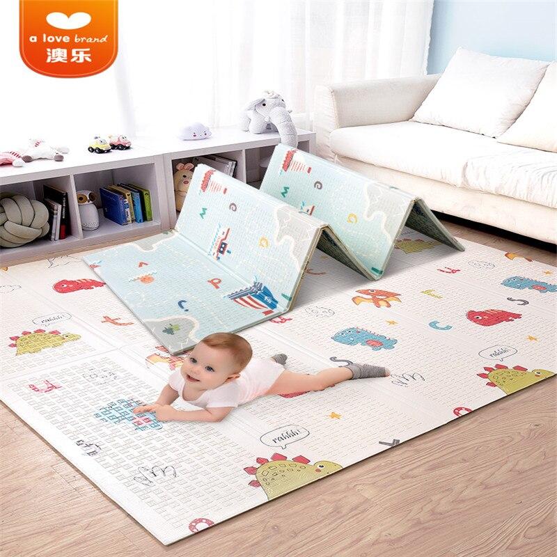 2019 nouveau AOLE pliant Frawling tapis épaississement bébé salon XPE dessin animé jeu Pad incassable résistant aux chocs Absorption tapis