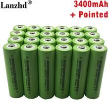 24 шт. 18650 Батарея VTC7 3,7 V 3400 мА/ч, литий-ионный аккумулятор 30A разрядки Перезаряжаемые Батарея 18650 US18650VTC7 батареи с острым носком