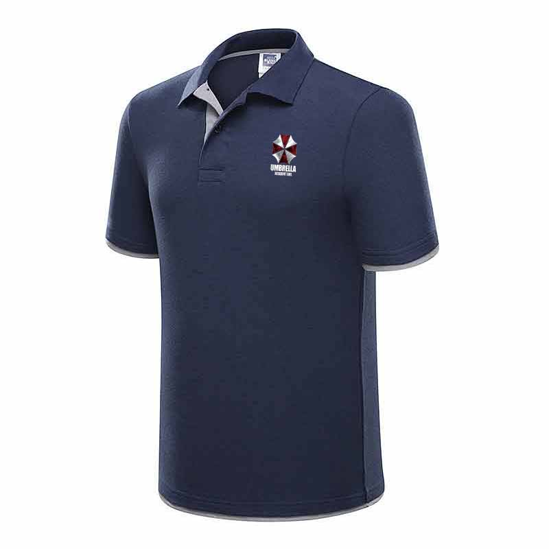 New cotton summer   polo   shirt with matching short sleeves, printed casual   polo   shirt with lapel and fashionable slim men's coat