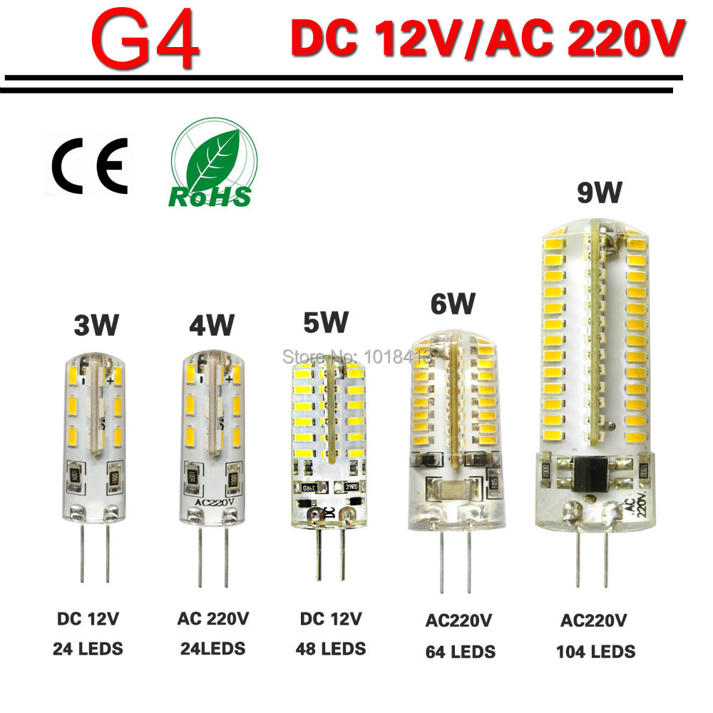 Buy g4 led lamp bulb 3w 4w 5w 6w 9w smd for Focos led exterior 50w