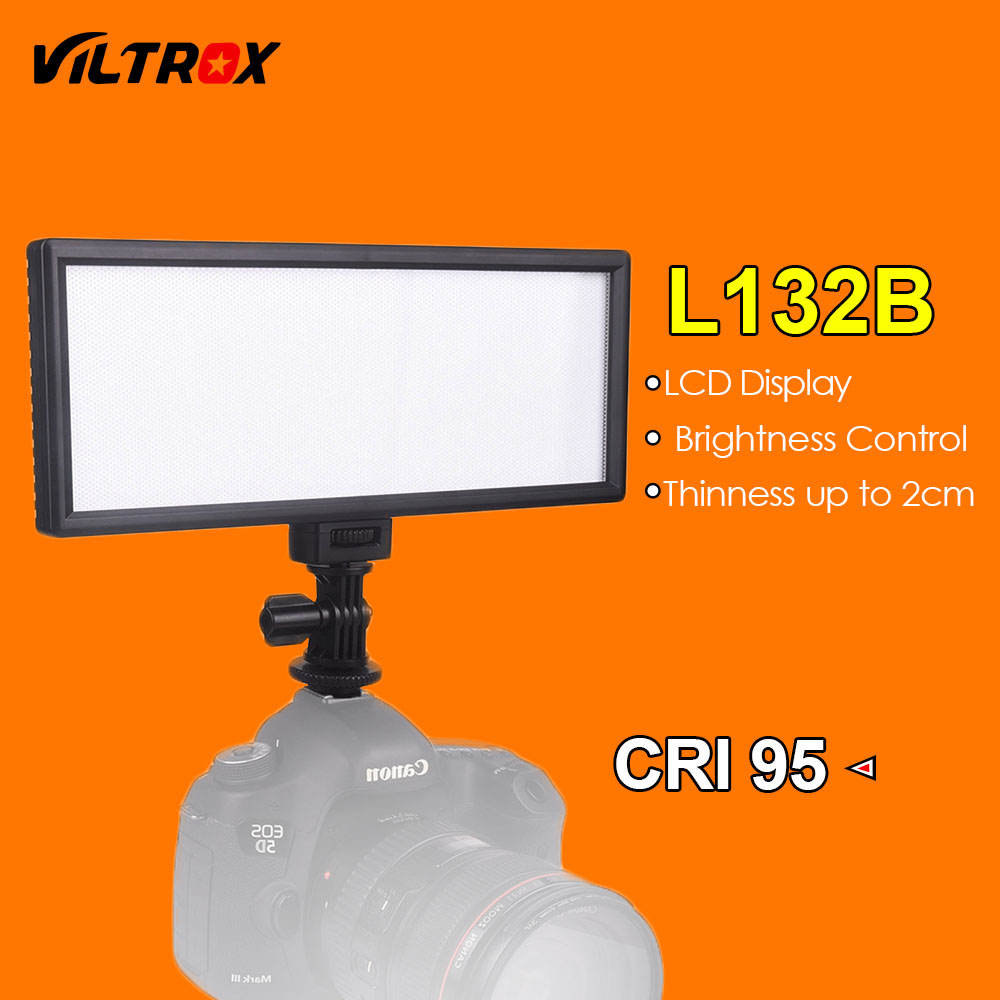 Viltrox L132B LED Video Light Ultra Thin LCD Display Dimmable Studio LED Light Lamp Panel for DSLR Camera DV Camcorder стоимость
