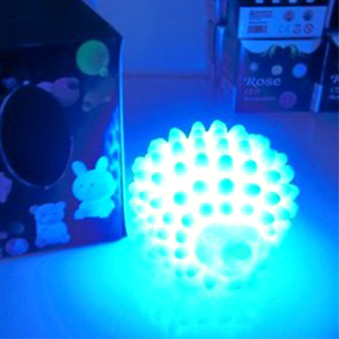 LED Hedgehog Night Light Household Decoration Lamp Desk Lamps Changing Color Christmas Present Baby Light Home Bedside Lamp