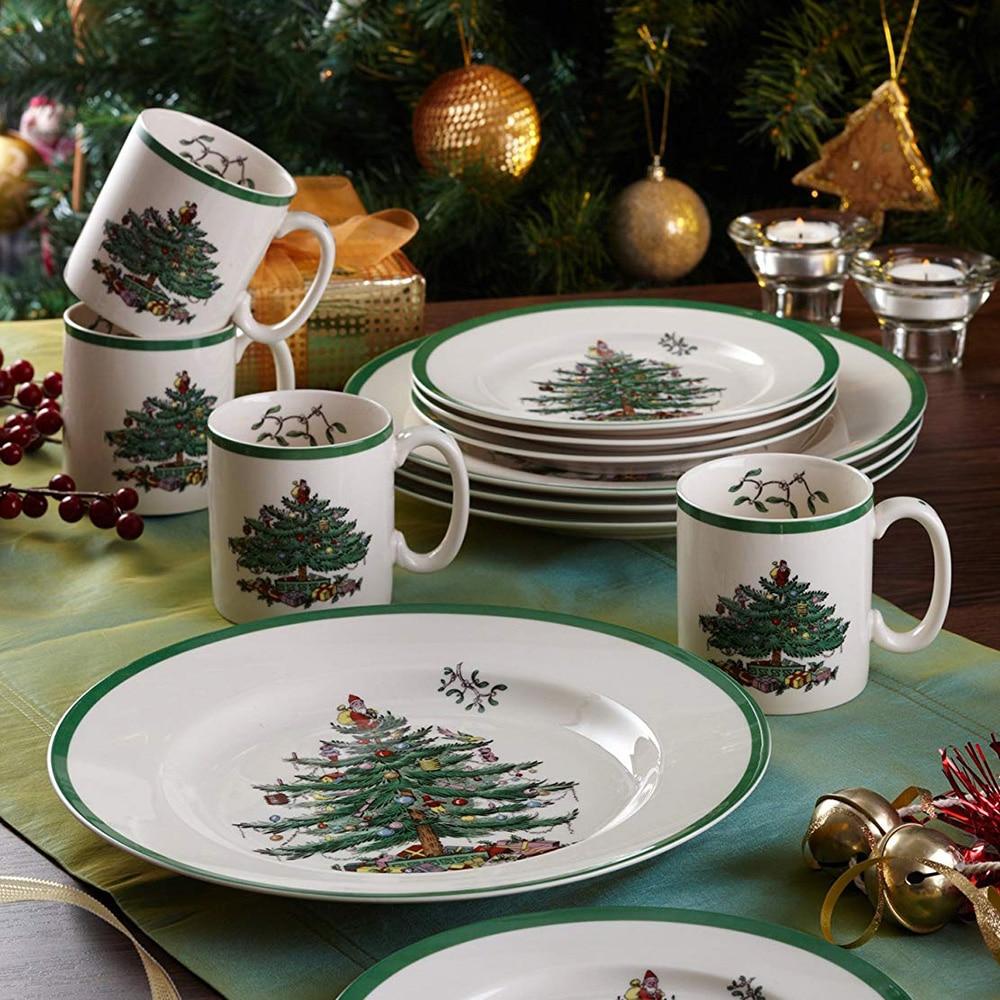 Coffee Christmas Tree.Us 42 9 Set Of 4 9 Oz England Style Christmas Tree Mug Milk White Christmas Mug New Year S Gift Home Coffee Mug Children Drinkware In Mugs From Home